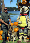 Pasco officer and K9 with